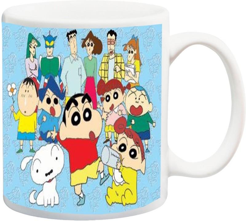 ME&YOU Gifts On Happy Birthday For Brother Sister Nephew Boy Girl Kids Children Cousin Niece (IZ17-VK-MU-0963) Shinchan Cartoon Show With All Members Printed Ceramic Mug(325 ml)