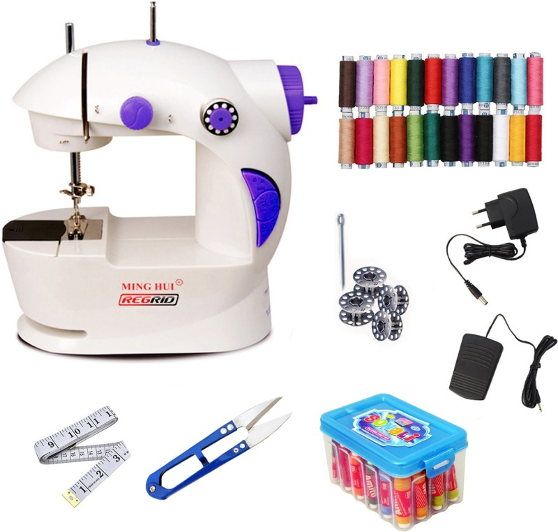 ReGrid Thread Box With 4in1 Portable & Compact CMB06 Electric Sewing Machine( Built-in Stitches 1)