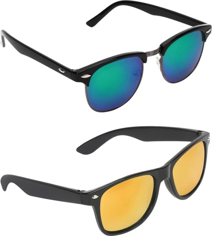 Zyaden Clubmaster, Wayfarer Sunglasses(Multicolor, Multicolor) image