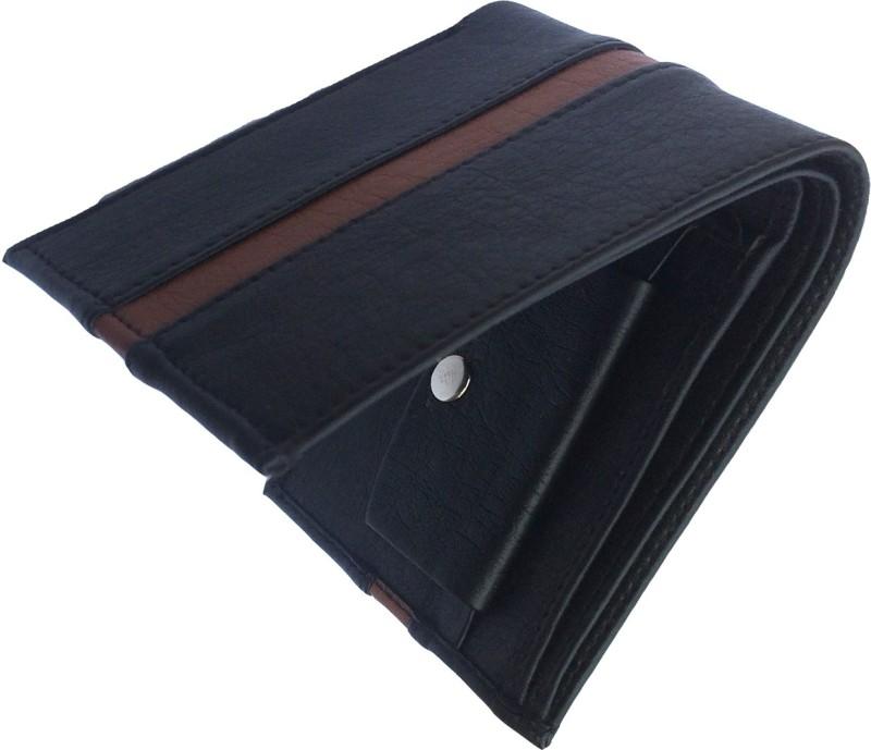 FRIENDS & COMPANY Men Black Genuine Leather Wallet(8 Card Slots)