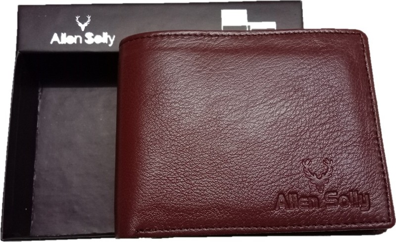 Allen Solly Men Maroon Genuine Leather Wallet(6 Card Slots)