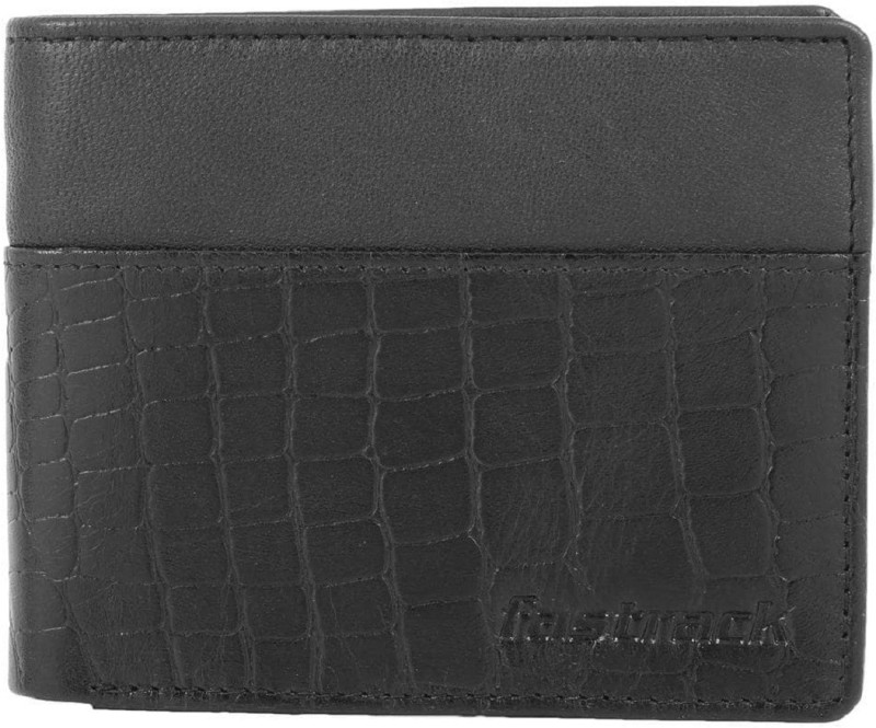 Fastrack Men Black Genuine Leather Wallet(4 Card Slots)