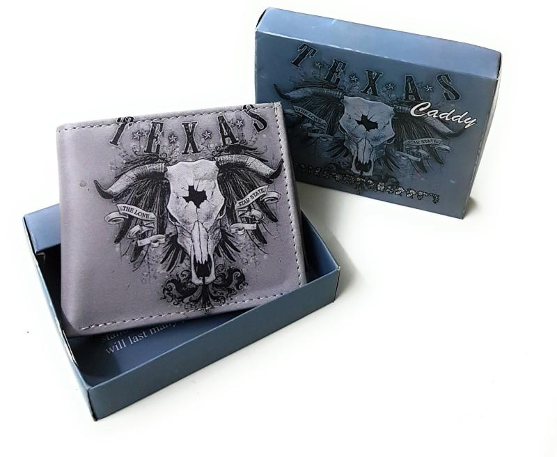 11e Men Grey Artificial Leather Wallet(8 Card Slots)