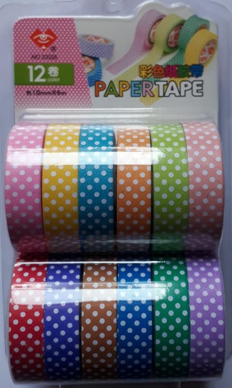 BestUBuy Multi Color Dots Design Paper Tape Drafting Tape(10 mm x 6 m)
