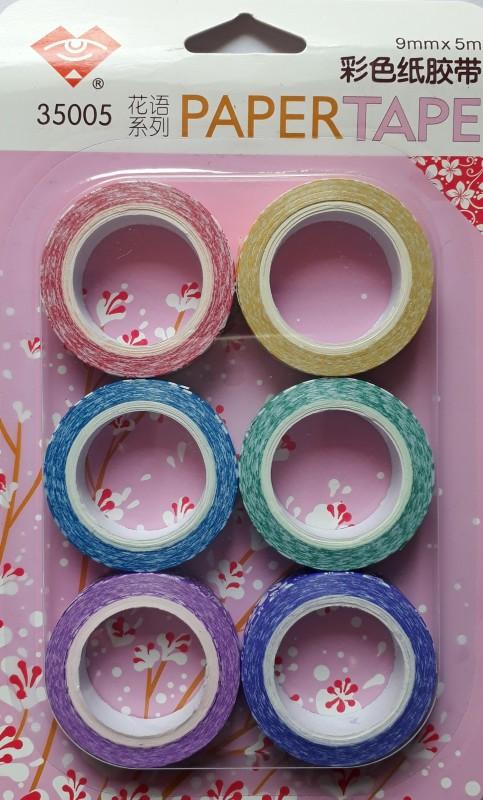 BestUBuy Multicolor Flower Design Paper Tape Drafting Tape(9 mm x 5 m)