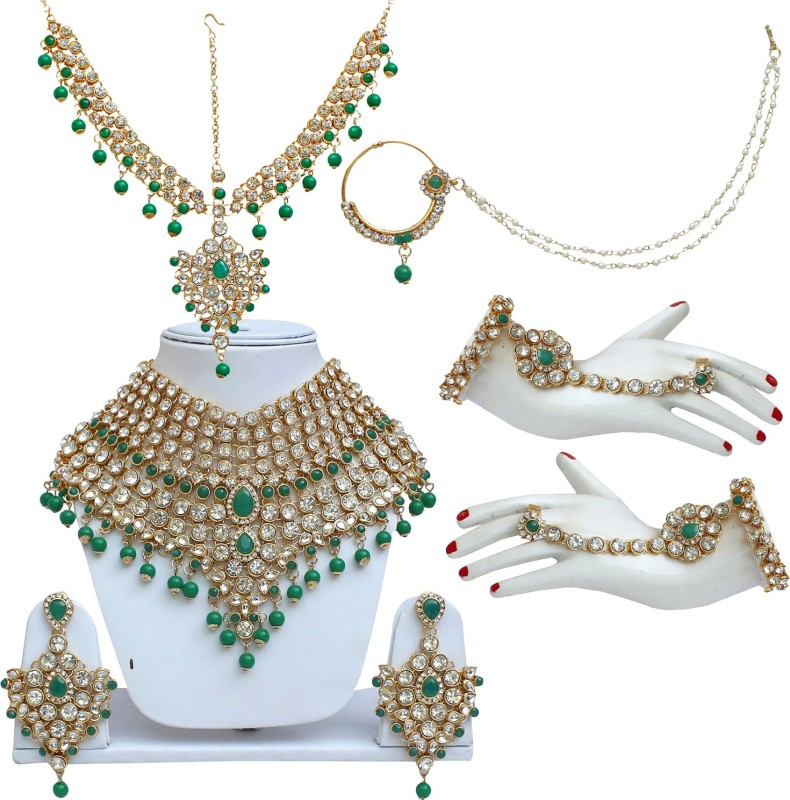 Lucky Jewellery Alloy Jewel Set(Green)