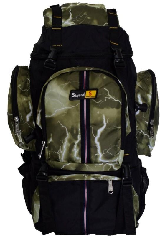 Skyline 25L Unisex Hiking/Trekking/Travelling/Camping Backpack Bag Rucksack Bag With Warranty-2407 Green Rucksack - 25(Green)