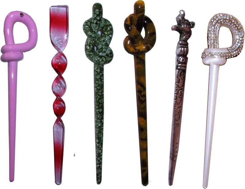 4 US Combo of Multi Color Juda Sticks Bun Stick(Multicolor)