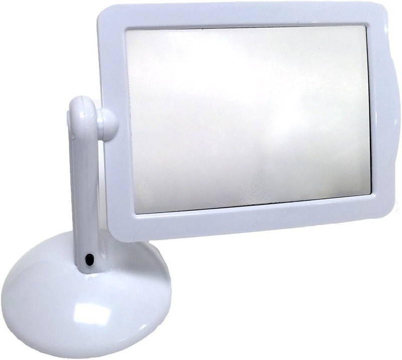 Confidence Magnifying Glass for Reading Books | Magnifier For Full Page Clear 3X Magnification | LED Lighting Magnifier With Stand 3X Magnifier(White)