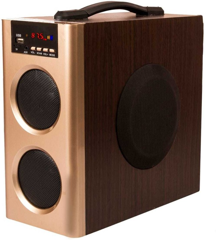 Flow Muzic Wave Mini 25 W Bluetooth Tower Speaker(Golden, 2.1 Channel)