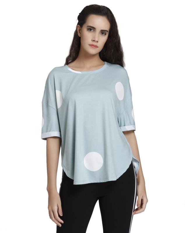 Vero Moda Casual Half Sleeve Printed Women's Green Top