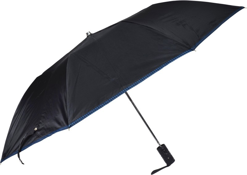 Fendo 2 Fold Auto Open Black color Men Umbrella(Black)