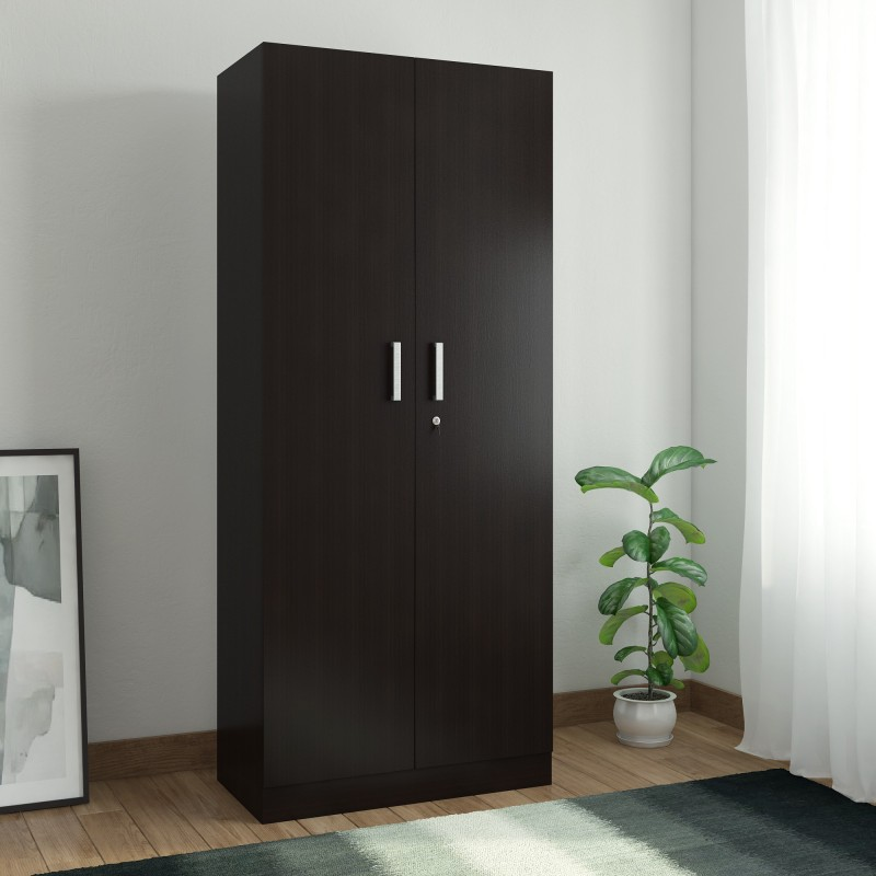 Spacewood Optima Engineered Wood 2 Door Wardrobe(Finish Color - Natural Wenge)