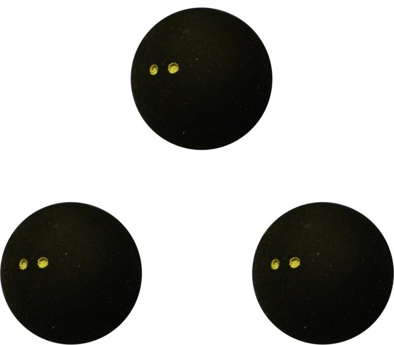 Dunlop D1SB700108 Squash Ball(Pack of 3, Black)