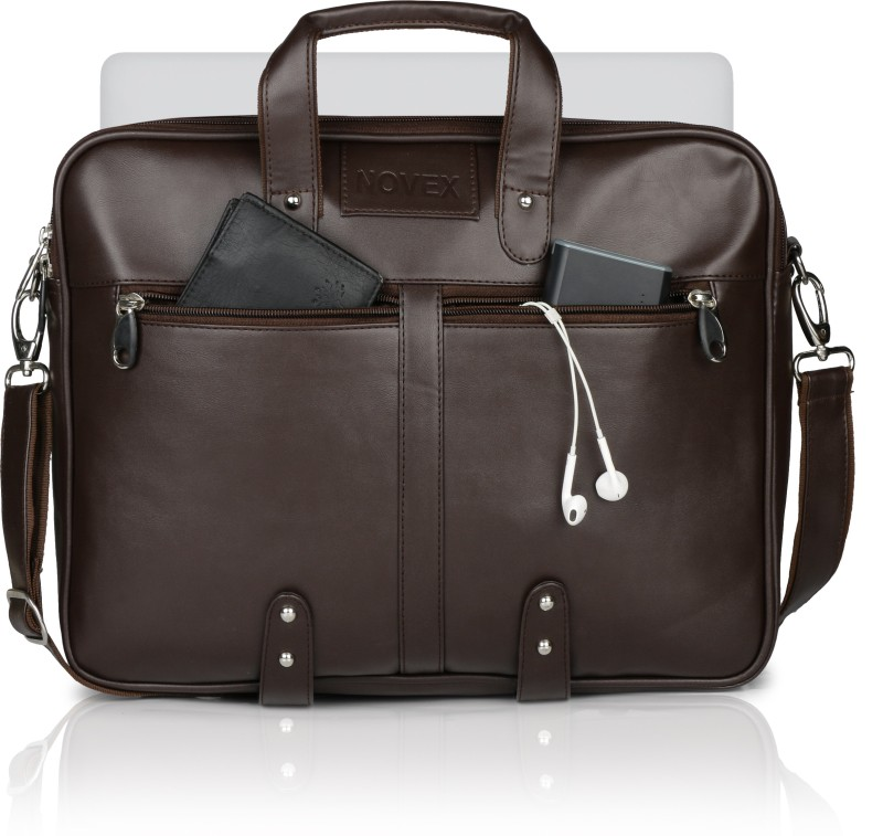 Novex Cave Medium Briefcase - For Men & Women(Brown)