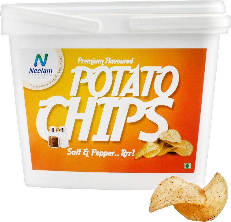 Neelam Foodland Box Pack Premium Flavoured Potato Chips Salt & Pepper, 200g Chips(200 g)