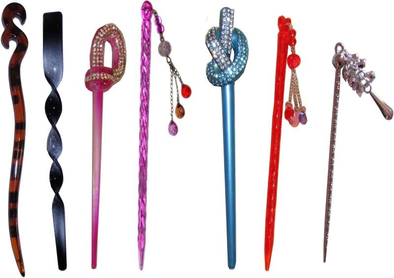 9 LOVE Combo of Multi Color Juda Sticks Bun Stick(Multicolor)