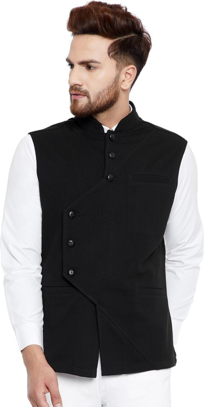 Hypernation Sleeveless Solid Men Jacket