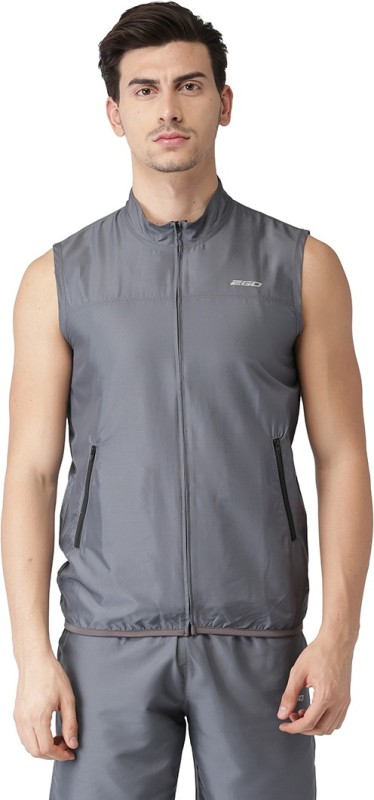 2GO Sleeveless Solid Men Jacket