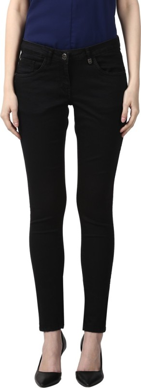 Park Avenue Skinny Women Black Jeans