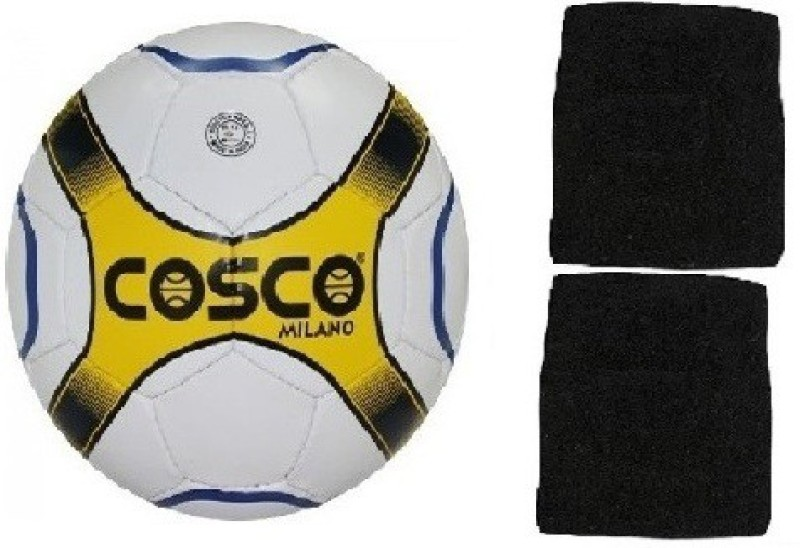 Cosco Combo Of Two- One Milano Football (Size-5) And One pair of wrist band (Color On Availability)- Football Kit