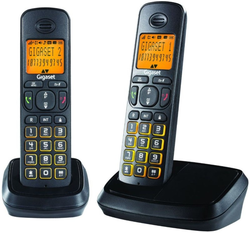 Gigaset A500 Duo Cordless Landline Phone(Black)