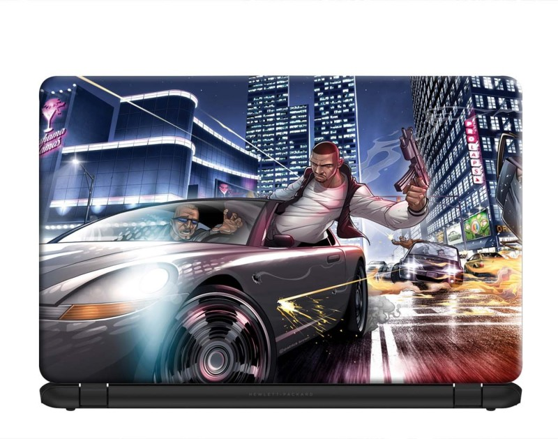 100yellow Grand Theft Auto Gaming Laptop Skin Decal 15.6 Inch PVC Vinyl Laptop Decal 15.6