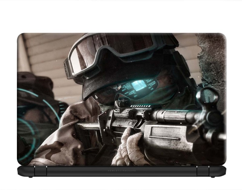 100yellow Tom ClancyS Ghost Recon: Future Soldier Gaming Laptop Skins Sticker Decal 15.6 Inch for Dell HP Acer Asus Lenovo PVC Vinyl Laptop Decal 15.6