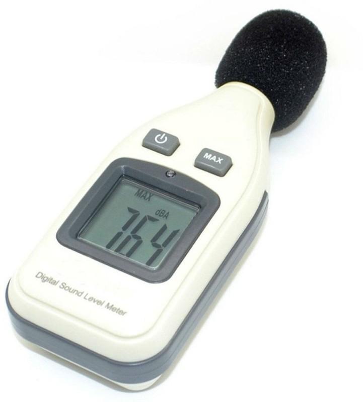 Shrih LCD Digital Sound Level Meter Noisemeter 30130dBA 1.5dB Decibel Pressure Single Unit Measuring Wheel SHV0486 Single Unit Measuring Wheel