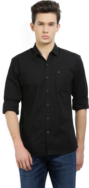 Wrangler Mens Solid Casual Spread Shirt