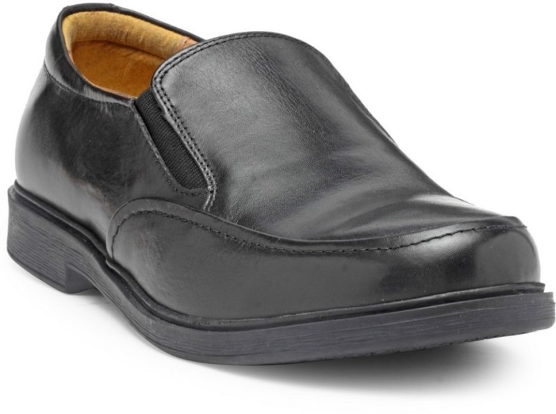 Hats Off Accessories Genuine Leather Slip On For Men(Black)