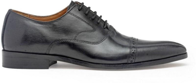 Hats Off Accessories Genuine Leather Classic Lace Up For Men(Black)