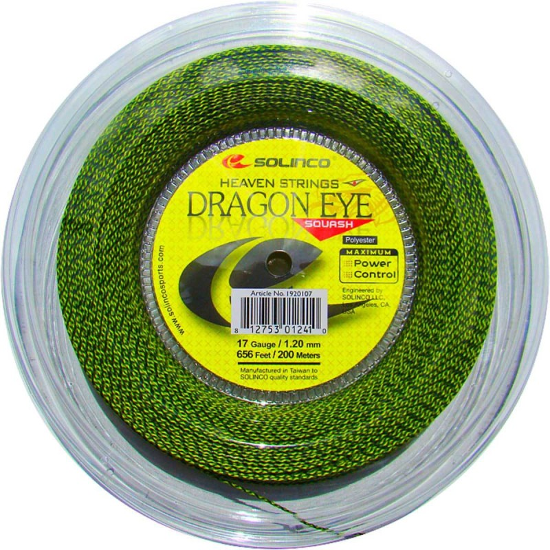 Solinco DRAGON EYE 17 Squash String - 200 m(Green)