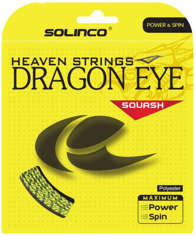 Solinco Dragon EYE 17 Squash String - 10 m(Yellow)