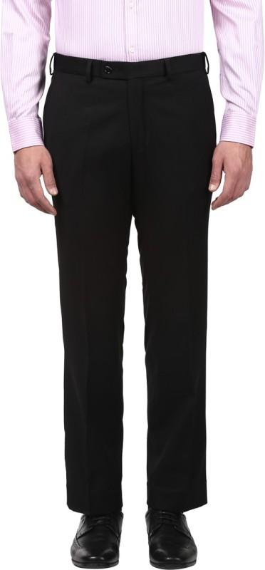 Park Avenue Men Black Trousers