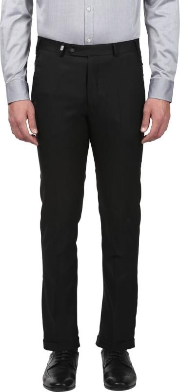 Park Avenue Regular Fit Men Black Trousers
