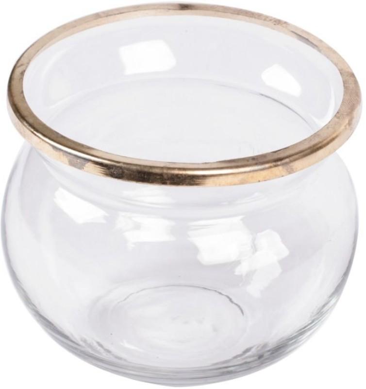 Scrafts Transparent Glass Jar Room/Home Décorative Glass Vase(4 inch, Clear)
