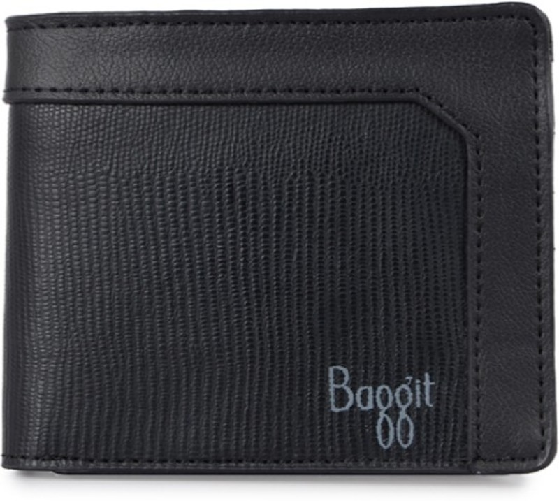 Baggit Men Black Artificial Leather Wallet(6 Card Slots)