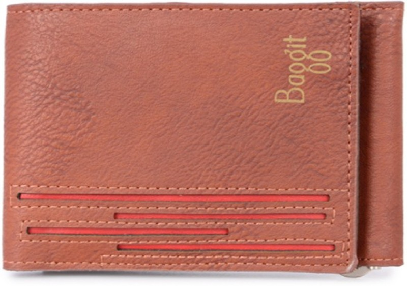 Baggit Men Tan Artificial Leather Wallet(6 Card Slots)