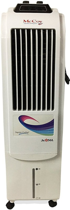 mccoy T Tower Air Cooler(White, 36 Litres)