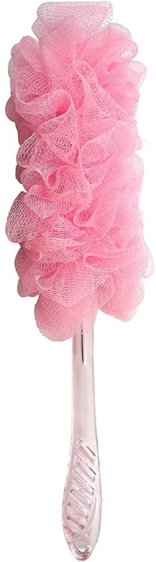 Panache Bath Brush Mesh, Large, Rose Pink