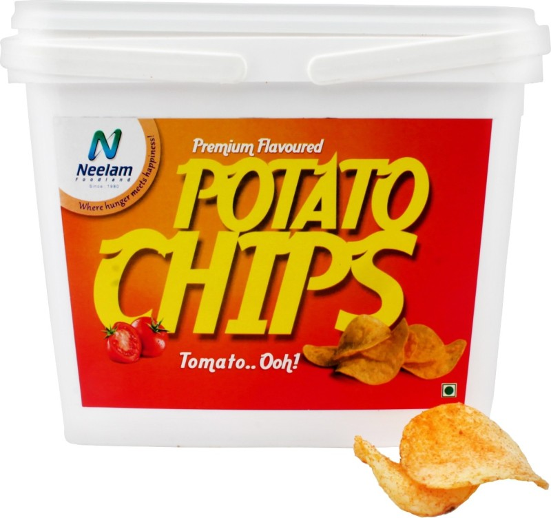 Neelam Foodland Box Pack Premium Flavoured Potato Chips Tomato Thrill, 200g Chips(200 g)