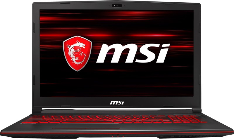 MSI GL Core i7 8th Gen - (8 GB/1 TB HDD/128 GB SSD/Windows 10 Home/4 GB Graphics) GL63 8RD-450IN Gaming Laptop(15.6 inch, Black, 2.2 kg) image