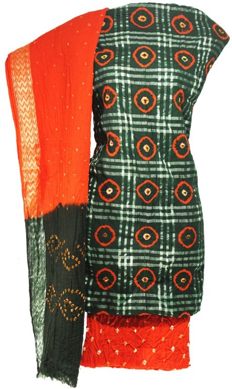 Lattice Cotton Silk Blend Printed Salwar Suit Dupatta Material(Un-stitched)