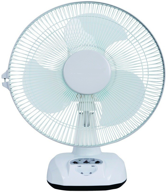 care 4 Rechargeable 12 AC/DC with led light, oscillation option, 3 speed control, 3 blade 3 Blade Table Fan(multicolor)