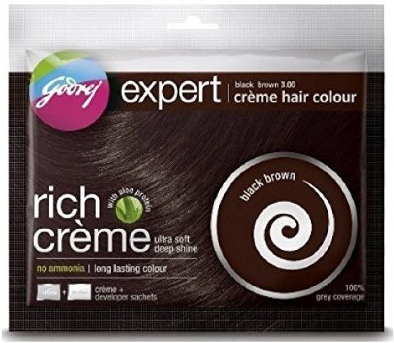 Godrej Expert Cream hair Black Brown Colour Hair Color(Black Brown)