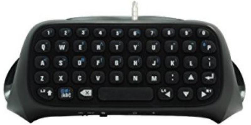Microware Wireless Keyboard For Play Station 4 Bluetooth Wireless Gaming Keyboard(Black)