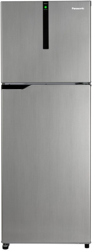 Panasonic 307 L Frost Free Double Door Top Mount 3 Star Refrigerator(Silver, NR-BG311VSS3)