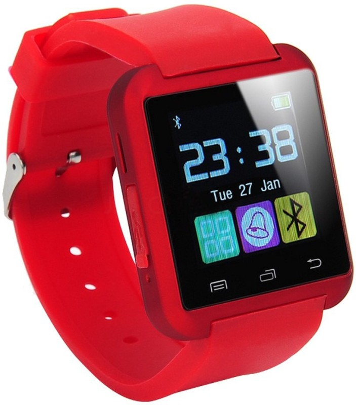 WDS Smart U8 R Compatible with I phone and All Android Devices Bluetooth Red Smartwatch(Red Strap Regular)