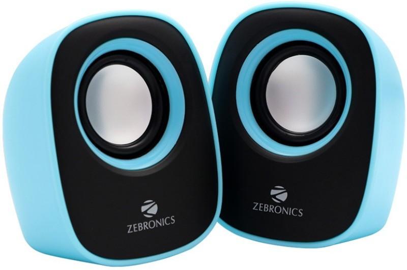 Zebronics Pebble New Laptop/Desktop Speaker(Blue, 2.0 Channel)